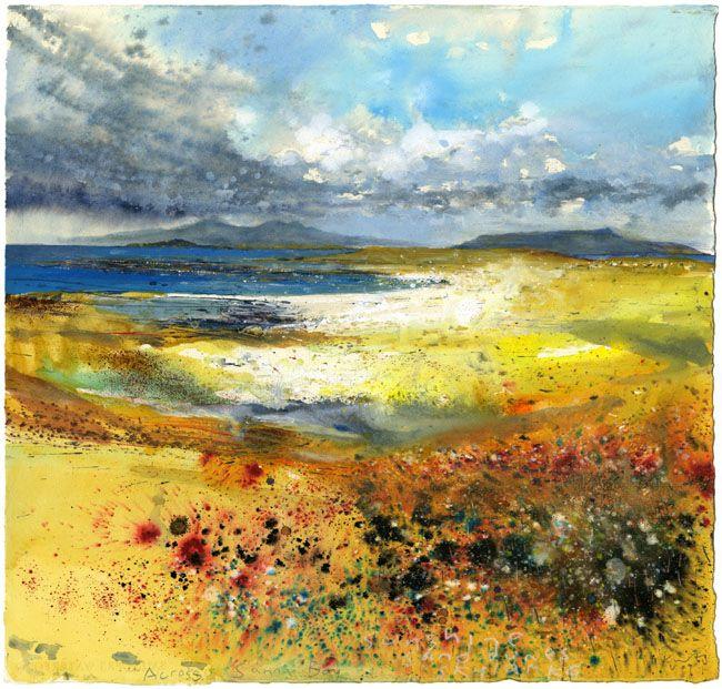 Sunshine, sand dunes, skylarks. Across Sanna Bay May 2009 - Kurt Jackson