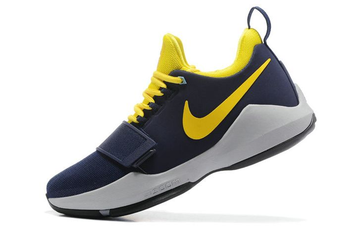 Free Shipping Only 69$ Nike PG 1 Indiana Pacers Paul George Navy Bright Yellow