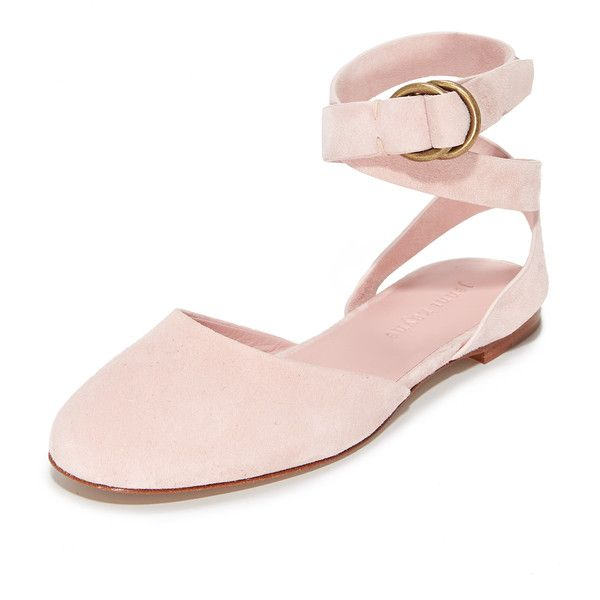 Jenni Kayne Strap Ballet Slippers ($495) ❤ liked on Polyvore featuring shoes, nude, nude leather shoes, leather ballet shoes, strappy shoes, monk-strap shoes and nude ballerina shoes