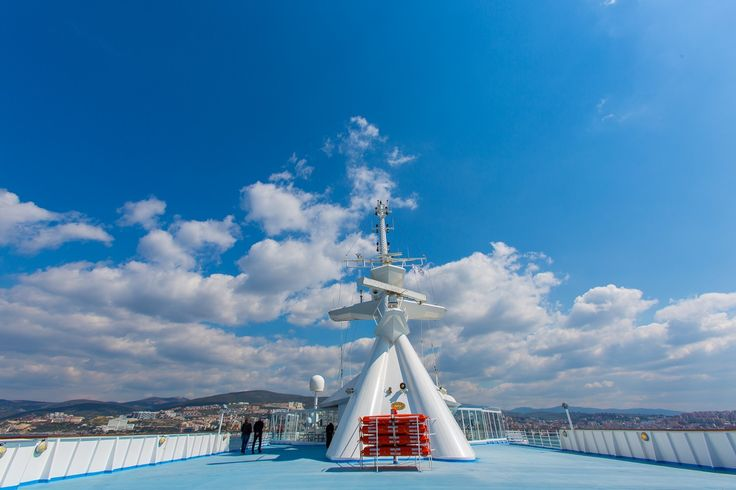 Happy Monday! Wonder what it feels like to gaze the Greek blue sky while relaxing on the deck of our cruise ships?   #Celestyalcruises #happy #Monday #Greek #blue #sky #relax #deck #cruise