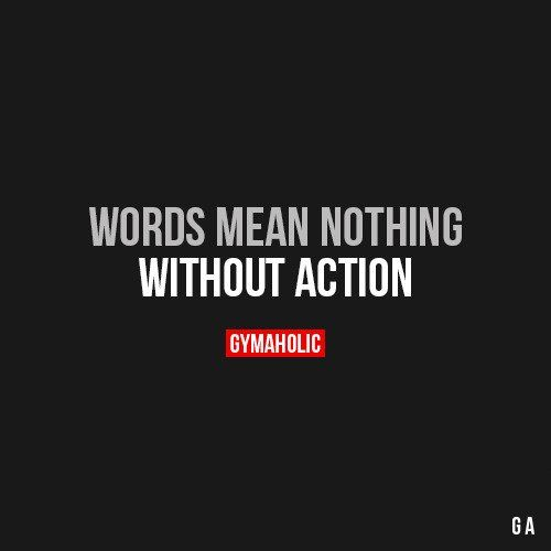 Words Mean Nothing Law of attraction.   You must go in the direction of your goal once you use affirmations