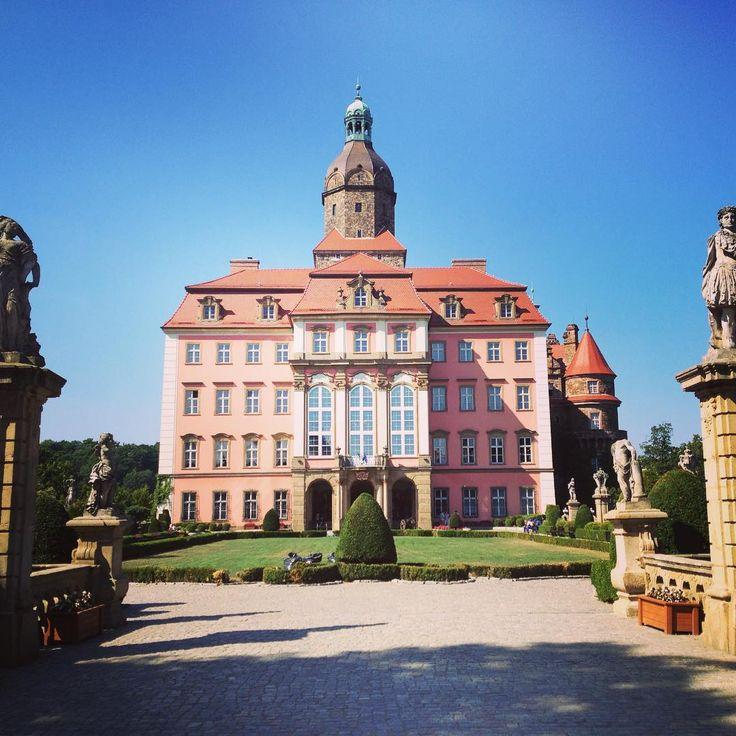 Schloss Fürstenstein (Schlessla Ferschtensteen oder Zamek Książ) - Nördlich der Stadt Waldenburg (Wałbrzych)