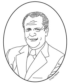 coloring pages of gerald ford - photo#20