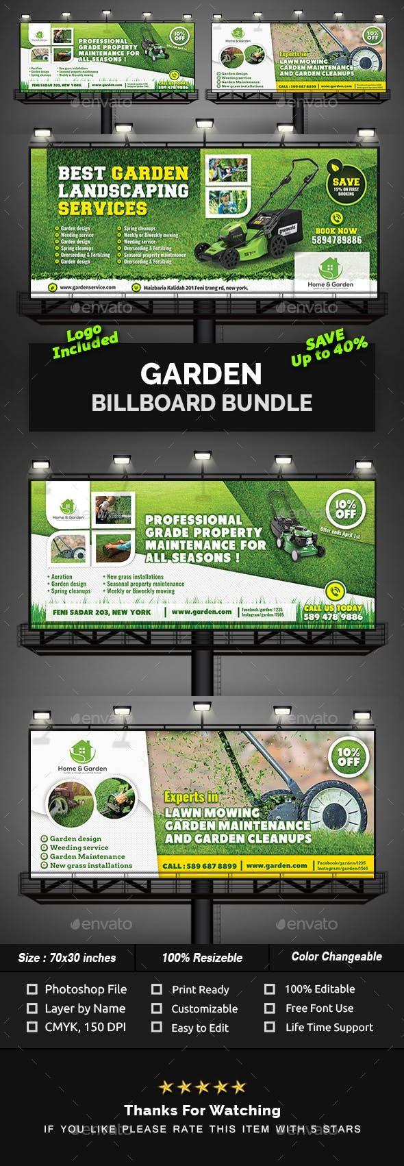 #Garden #Billboard #?ref=kam_551geidBundle - Signage Print Templates