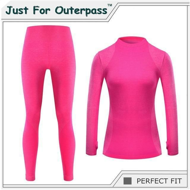 Just For Outerpass Brand New Winter Thermal Underwear Women Elastic Breathable Female Hi-Q