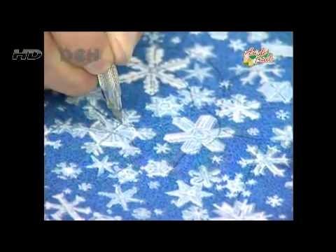 Video Sulaman Benang: Cuadro Navideño con la técnica Patchwork sin agujas -    - http://maribelajarsulamantangan.com/video-sulaman-benang-cuadro-navideno-con-la-tecnica-patchwork-sin-agujas/