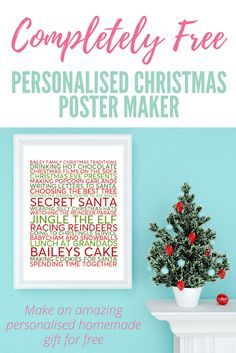 Personalise your very own Christmas Family Traditions Poster here! frugal but fabulous! This makes a great gift for someone and as you print out at home you can have it made in no time at all