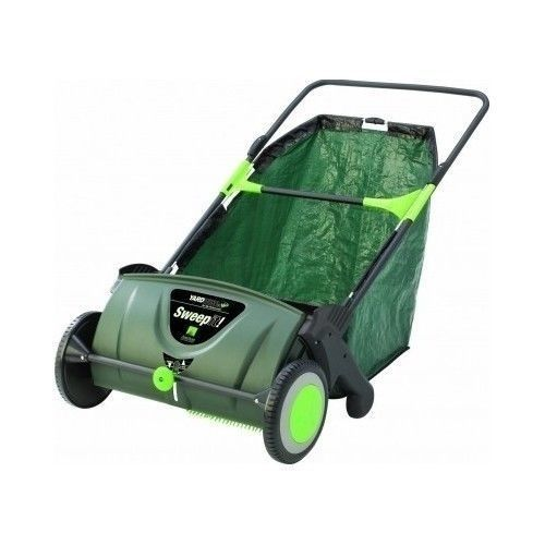 Push Lawn Sweeper Leaf Yard Grass Collector Clippings