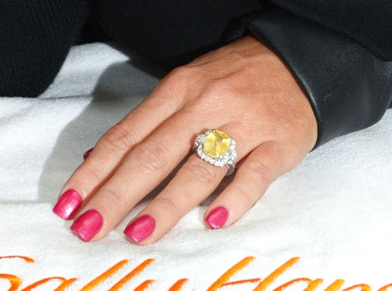 See Jenny McCarthy's Giant Yellow Sapphire Engagement Ring From Fiancé Donnie Wahlberg!