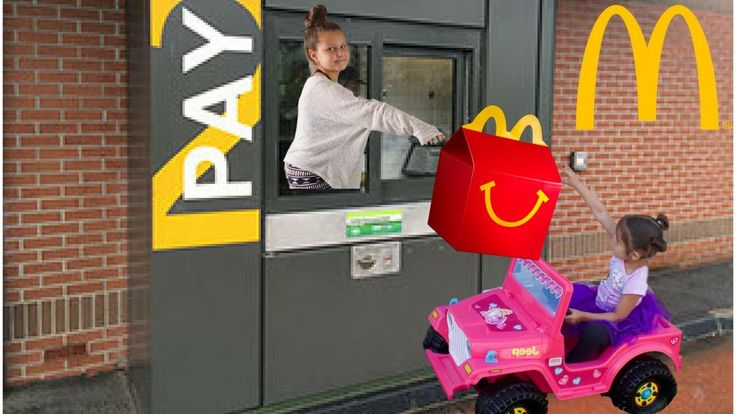 McDonalds Drive Thru on Barbie Power Wheels