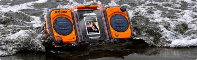 iDevice RADIO!!! this looks so awesome!!Terra Boombox, Mp3 Players, Eco Terra, Waterproof Boombox, Terra Waterproof, Ecoterra, Grace Digital, Pools Tables, Waterproofboombox