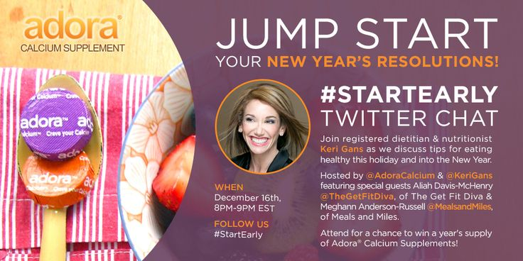 Adora and Keri Gans Host #StartEarly Twitter Chat December 16th! | The Get Fit Diva