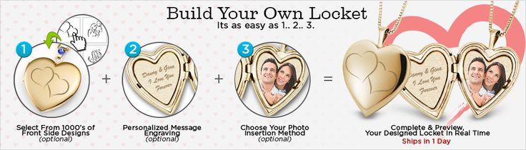 Try Building Your Own Locket for Mom. Yes, you can make a customized locket just for that special Mom figure in your life. Try it out, it's very easy, and can be designed on a mobile or desktop in minutes.  #mothersday #mothers #jewelry #lockets