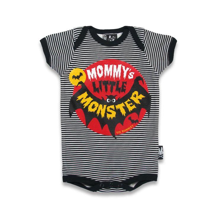 Little Monster Striped Baby Body