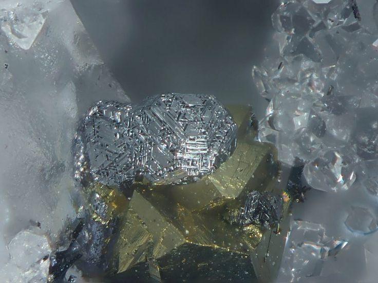 Matildite, AgBiS2, Clara Mine, Oberwolfach, Black Forest, Germany. Fov 1,3mm. Collection/Copyright: franksch