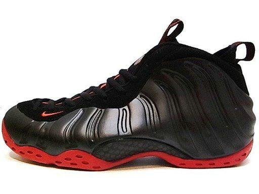 Nike Air Foamposite One Black Red Foam Basektball Shoes