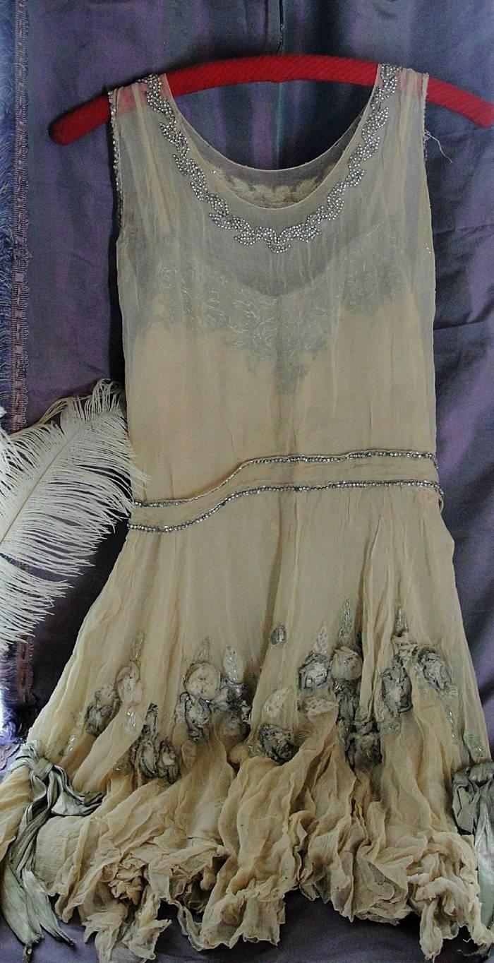 Antique London Ballet Theatre Flapper Burlesque Costume Dress