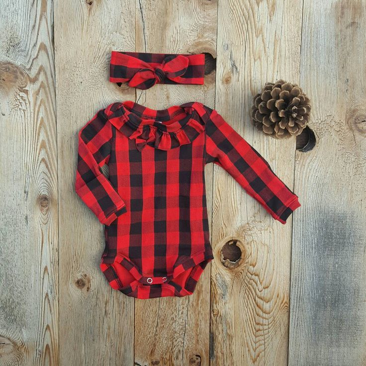Plaid Ruffle Onesie and Ruffle Butt Leggings and Headband Set Black and Red Take Home Outfit Hand Photos Luxury Girls Christmas Pajamas by Cheerfulivy on Etsy https://www.etsy.com/listing/472125008/plaid-ruffle-onesie-and-ruffle-butt