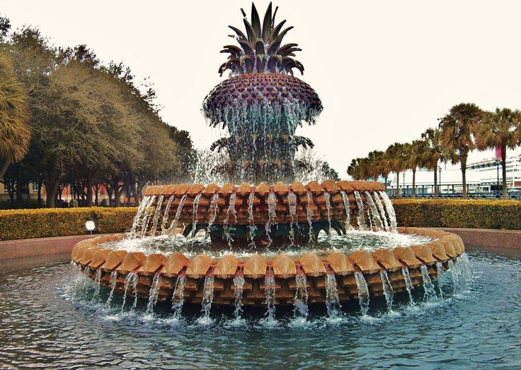 ***Pineapple Fountain, Waterfront Park, Charleston, SC