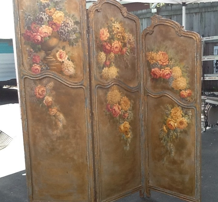 Antique Louis XV French Room Divider Screen Chic Roses Hand Painted Oil  Canvas - Best 20+ Victorian Room Divider Ideas On Pinterest Modern