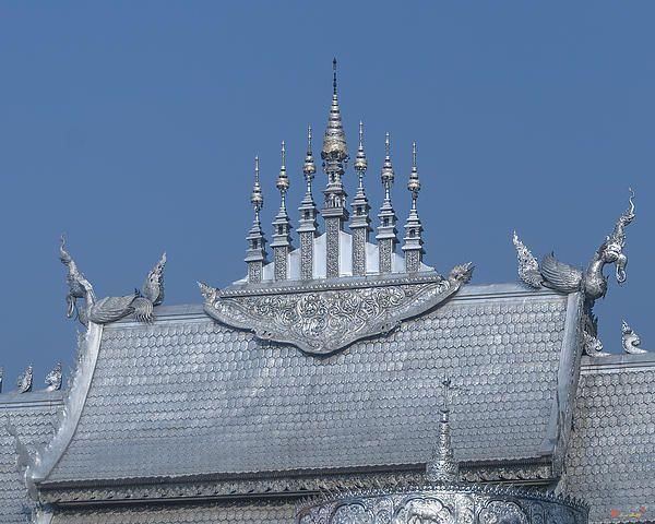 2013 Photograph, Wat Sri Suphan Phra Ubosot Roof Apex, Tambon Haiya, Mueang Chiang Mai District, Chiang Mai Province, Thailand, © 2014.  ภาพถ่าย ๒๕๕๖ วัดศรีสุพรรณ เอเพ็กซ์หลังคา พระอุโบสถ ตำบลหายยา เมืองเชียงใหม่ จังหวัดเชียงใหม่ ประเทศไทย