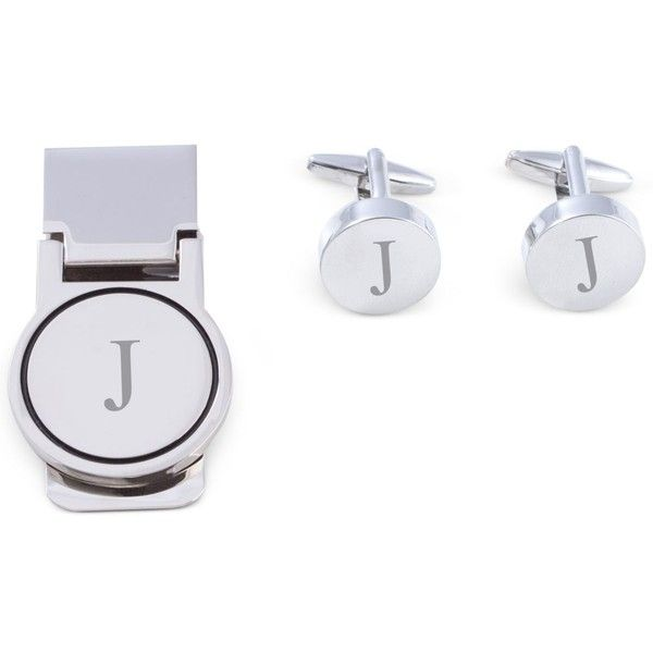 Bey-Berk Men's Monogrammed Cuff Links & Money Clip Set ($73) ❤ liked on Polyvore featuring men's fashion, men's accessories, men's money clips, j and mens money clip