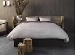 Aruba bed van Nilon Beds - Piet Boon. Piet Boon ontwerpt graag met het gebruik van natuurlijke materialen. Dit is goed terug te zien in dit bed dat hij voor Nilson Beds ontworpen heeft. www.nilsonbeds.nl