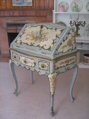 What a beautiful French bureau! Magnifique! Vintage Mosaic Boutique ~ Inspired by Yesterdays Old World Charm