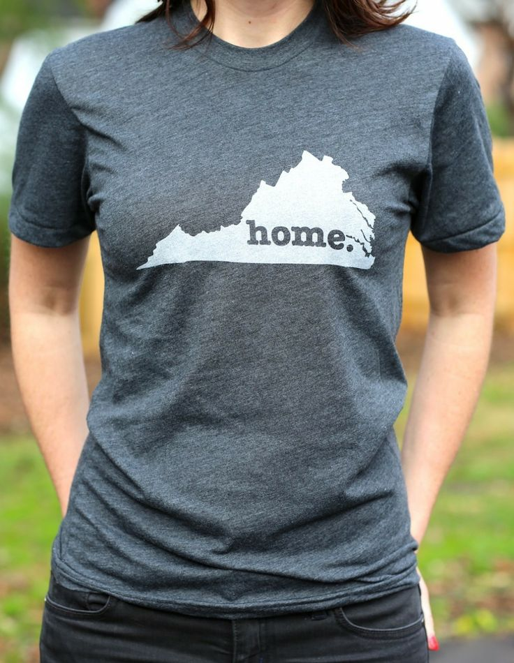 The Home. T - Virginia Home T.  The Virginia Home T-shirt is a stylish way to show off your state pride, while also helping raise money for multiple sclerosis research. (http://www.thehomet.com/virginia-home-t-shirt/)