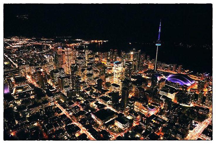 #AerialPhotography of Downtown Toronto at night #DowntownToronto #Toronto #AerialPhotographer #Aerial [BP imaging - Bochsler Photo Imaging]