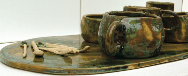 Centrotavola in gres design by Atelier Daniela Levera, Ceramic Trivet salva manteles de ceramica