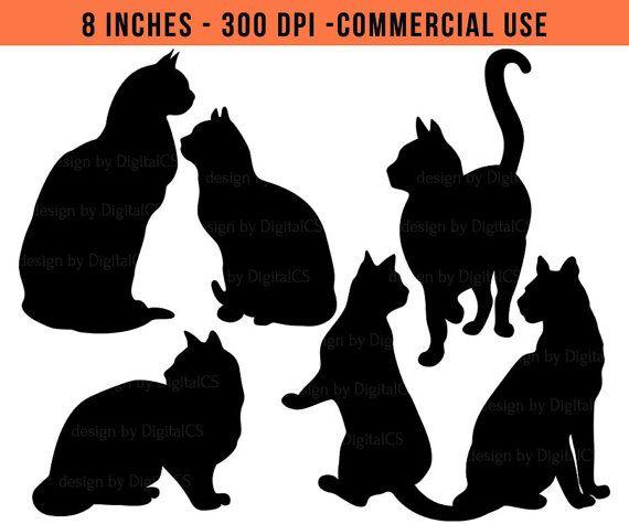 Gatto clipart gatto nero clipart clipart di DigitalCSPrintables