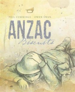 Picture book ANZAC Biscuits is wonderful way to remember ANZAC Day, it offers many discussion points both relating to the subject of war and the use of language.