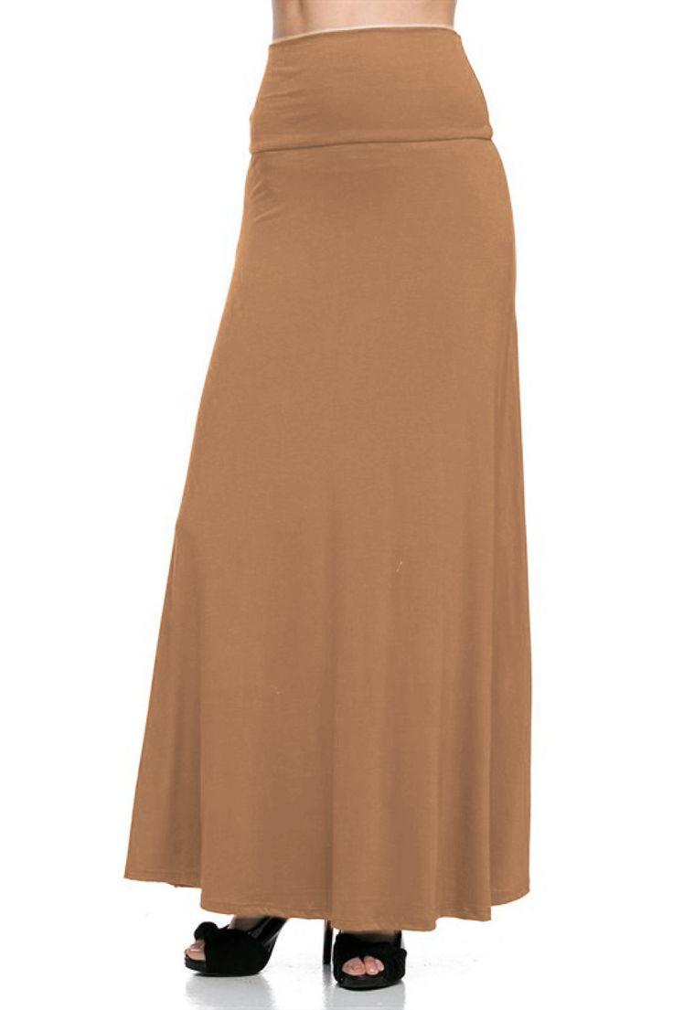 high waisted plus size maxi skirt bodilove trendy