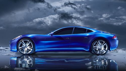 the Fisker Karma. One of the sexiest cars out there!
