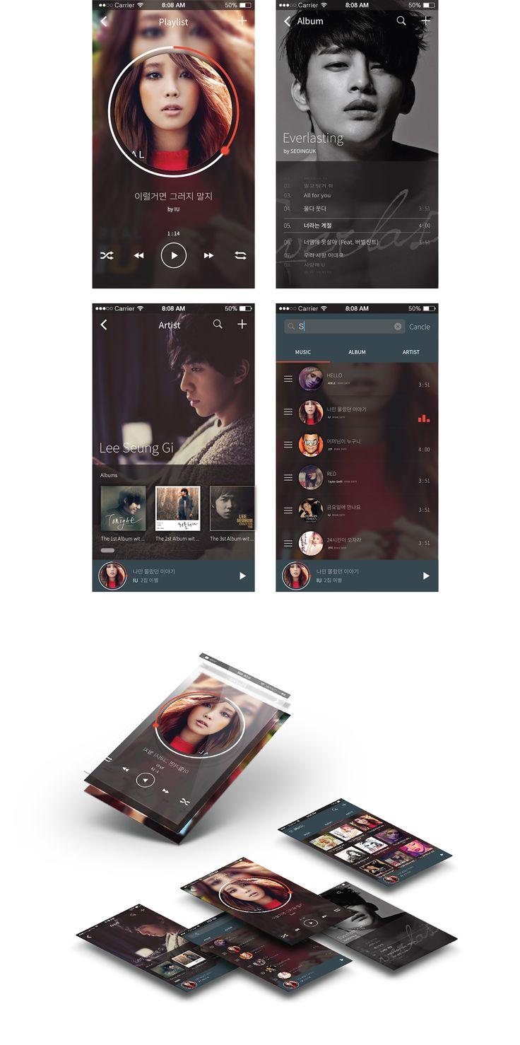Mobile Music UI on Behance