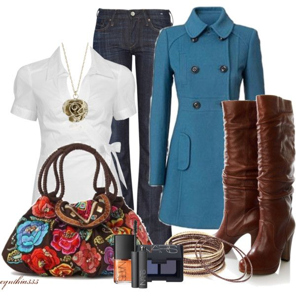 blue and brown for fall..