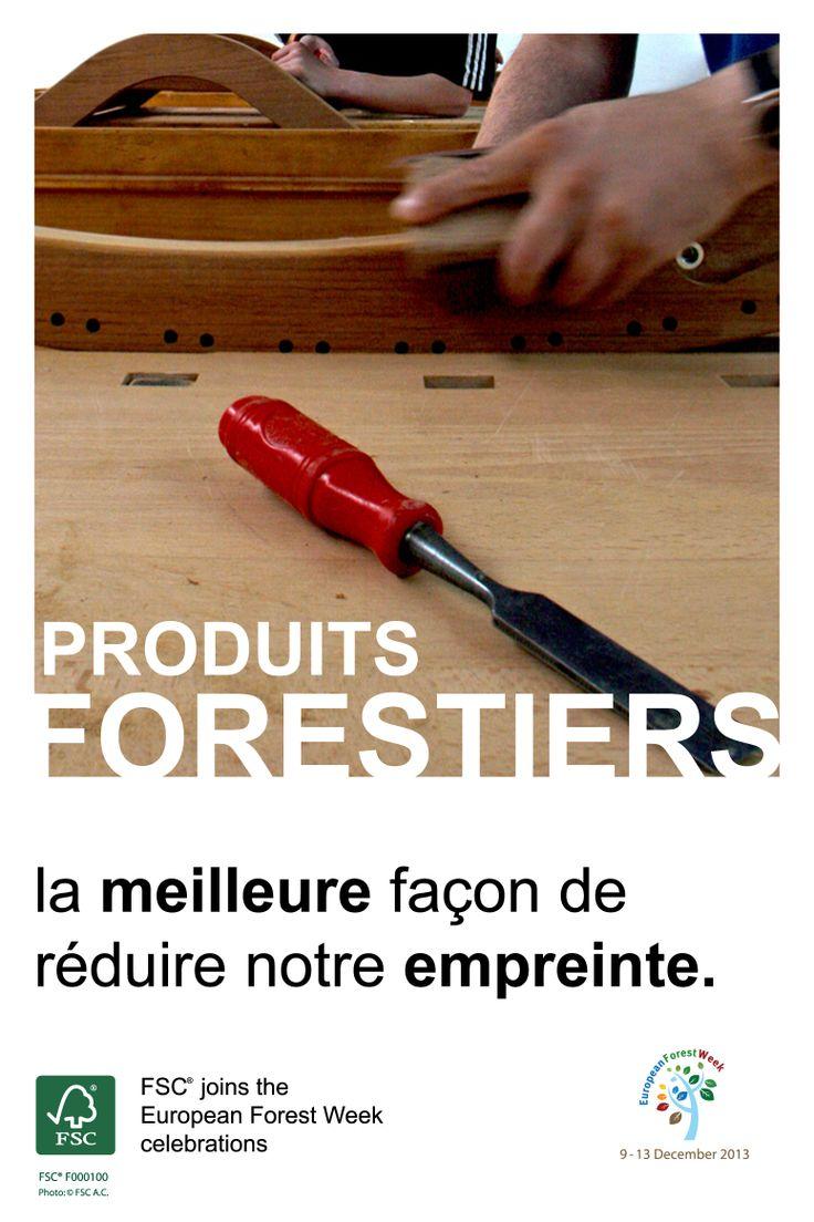 Produits forestiers – la meilleure façon de réduire notre empreinte.