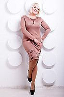 Платье OSL Иветта; цвета: кофе | электрик | бирюза | чёрный,  состав:35% коттон, 35% вискоза, 30% полиэстер