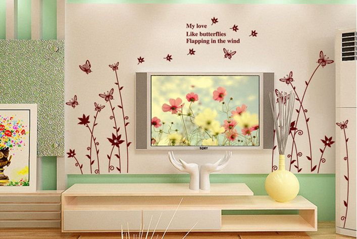 The 157 best Floral Wall Decals images on Pinterest | Floral wall ...