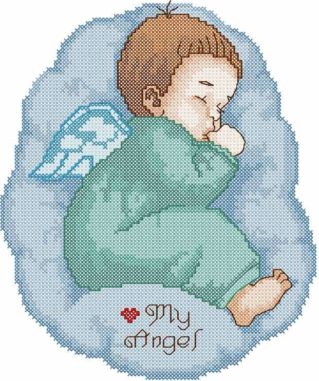 My Angel cross stitch free embroidery design - Cross stitch machine embroidery - Machine embroidery forum