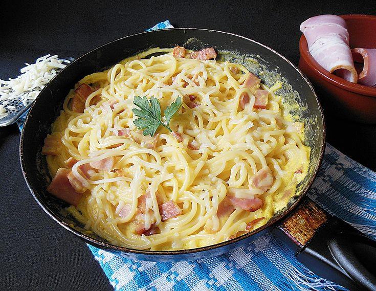 Retete culinare : Spaghete carbonara, Reteta postata de rocsi_1612 in categoria Spaghete
