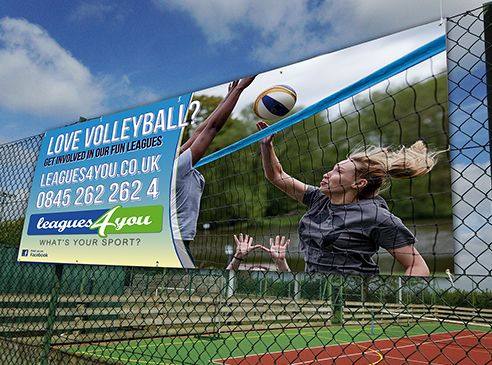 PVC Banners produced for Leagues4You