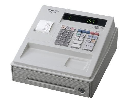 Sharp XE-A107 Cash Register with 8 Departments -White - XEA107