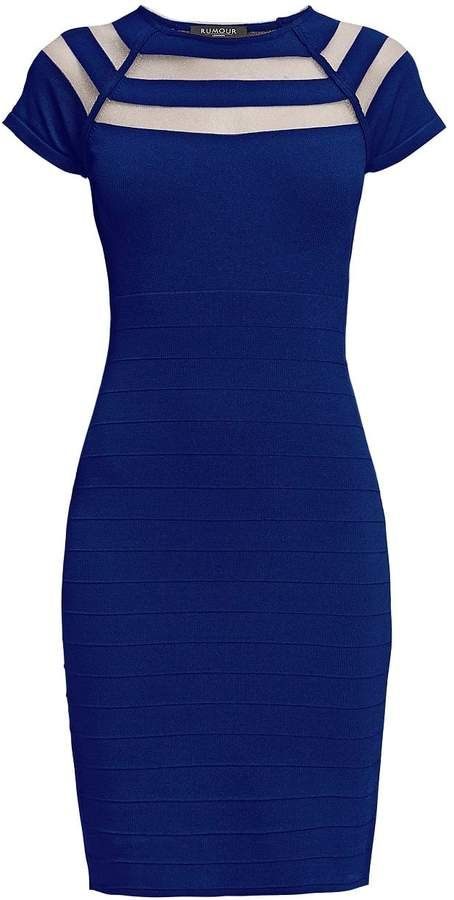 Hearsay London Catherine Blue Bodycon Costume with Lower-Out Element
