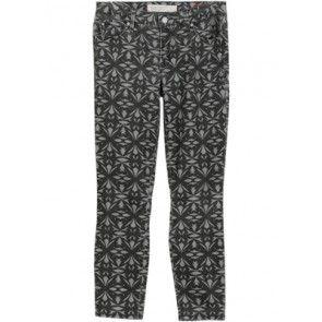 Grey Printed Capri Pants