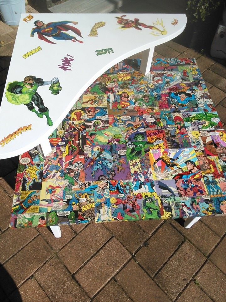 DC comic inspired coffee table