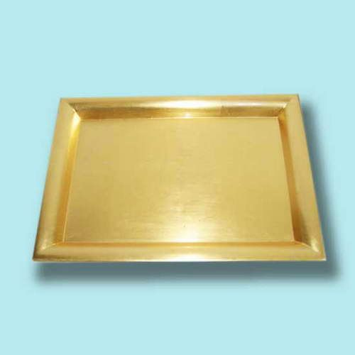 Wholesale Square Chargers Charger Plates Contain Gold
