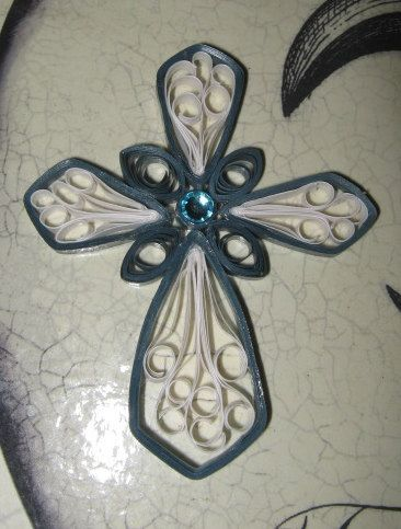 Paper Filigree Quilled Ornamental Cross  - I may have to add this unusual cross to my collection.