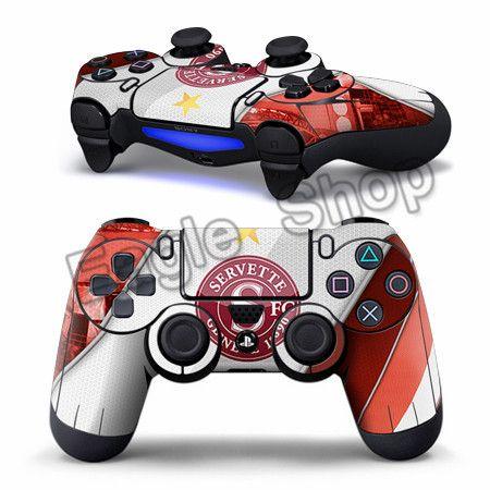 2 шт. серветт фк наклейки для PS4 контроллер футбольная команда кожи для PS4 виниловая наклейка